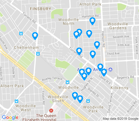 map of Woodville apartments for rent