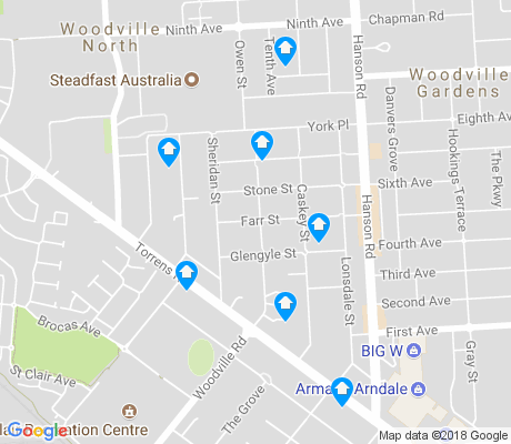 map of Woodville North apartments for rent