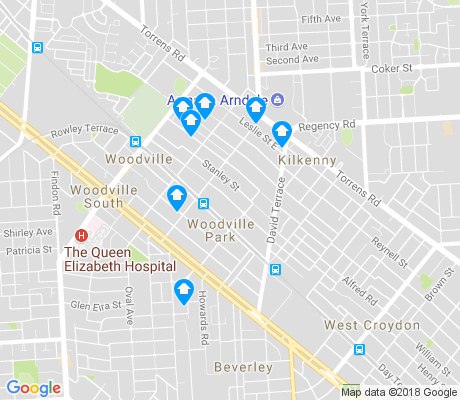 map of Woodville Park apartments for rent