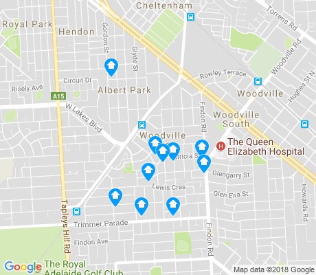 map of Woodville West apartments for rent