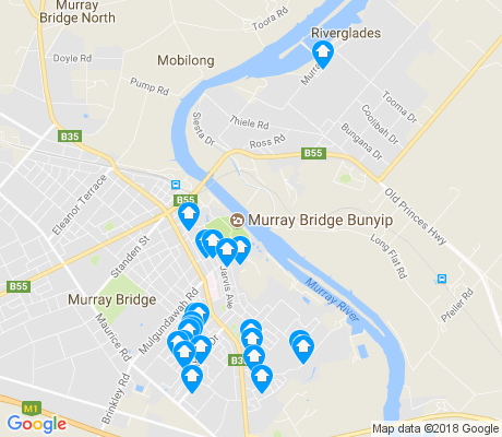 map of Murray Bridge East apartments for rent
