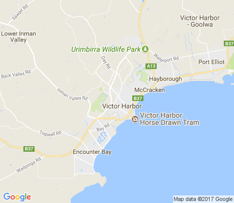 map of Victor Harbor apartments for rent