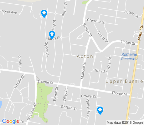 map of Acton apartments for rent