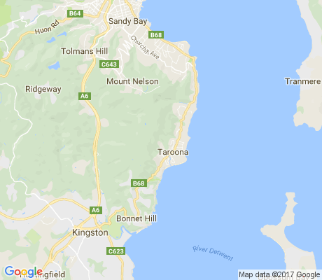 map of Taroona apartments for rent