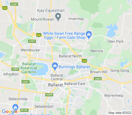 map of Ballarat North apartments for rent