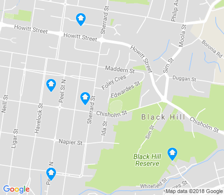 map of Black Hill apartments for rent