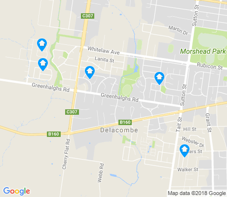 map of Delacombe apartments for rent