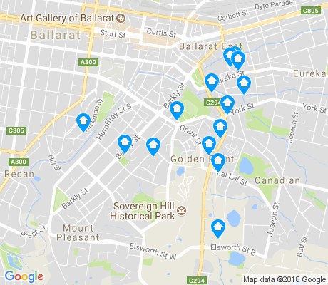 map of Golden Point apartments for rent
