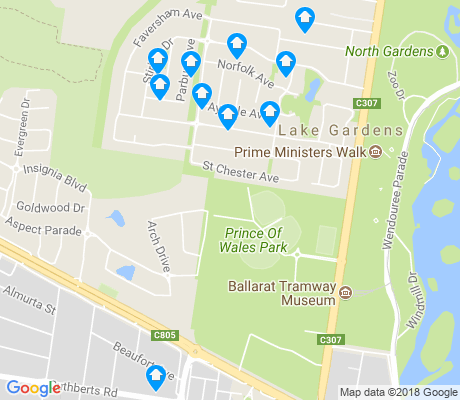 map of Lake Gardens apartments for rent