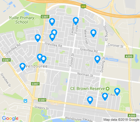 map of Wendouree apartments for rent