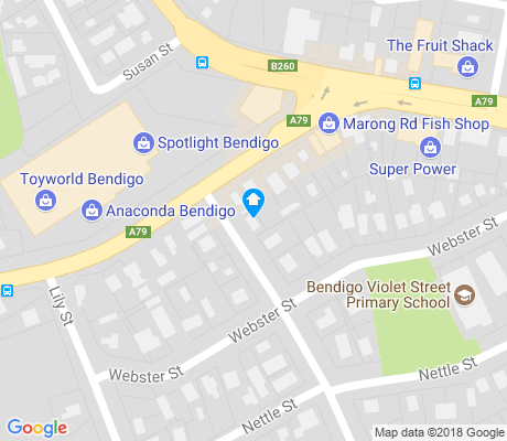 map of Ironbark apartments for rent