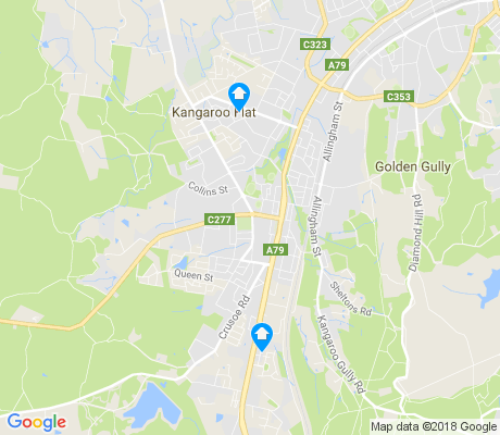 map of Kangaroo Flat apartments for rent