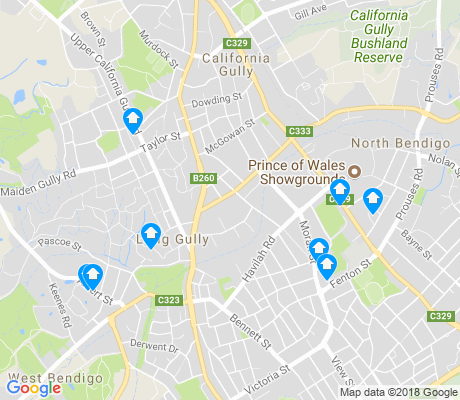 map of Long Gully apartments for rent