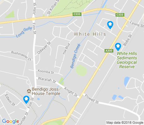map of White Hills apartments for rent