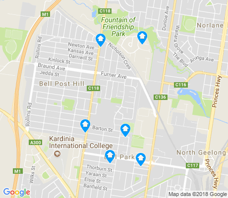 map of Bell Park apartments for rent