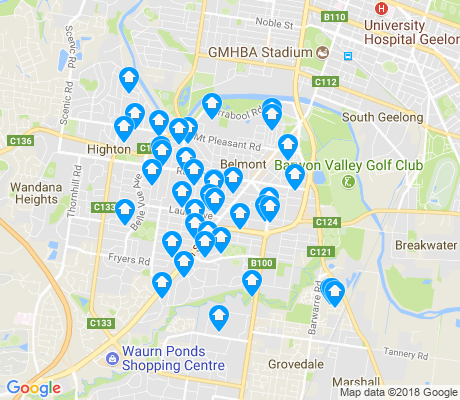 map of Belmont apartments for rent