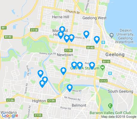 map of Newtown apartments for rent