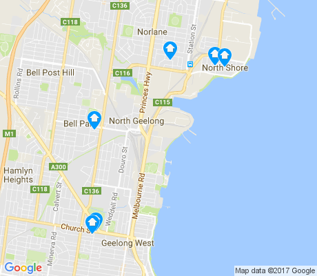 map of North Geelong apartments for rent