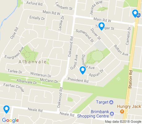 map of Albanvale apartments for rent