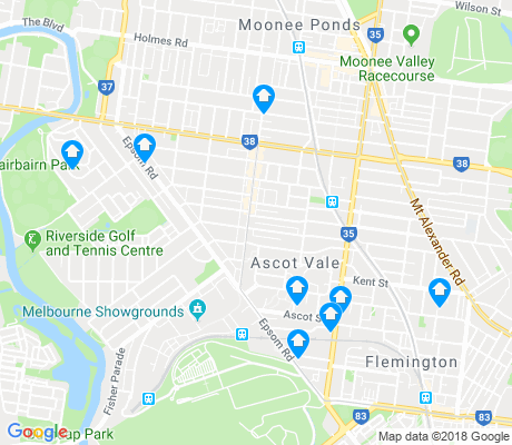 map of Ascot Vale apartments for rent