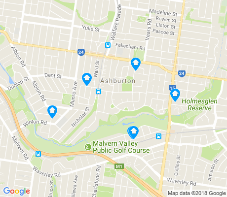 map of Ashburton apartments for rent