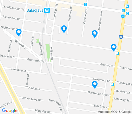map of Balaclava apartments for rent