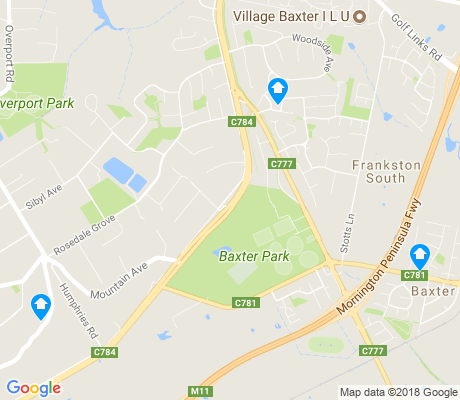 map of Baxter apartments for rent