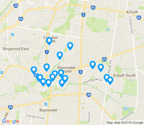 map of Bayswater North apartments for rent