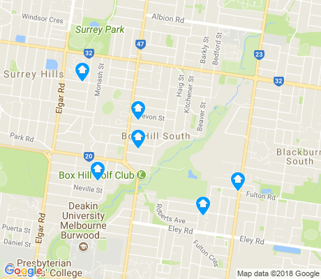 map of Box Hill South apartments for rent