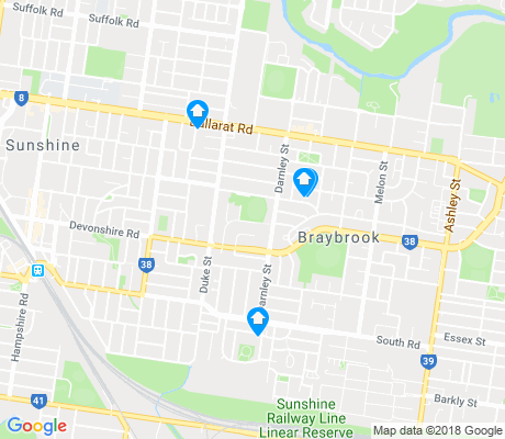 map of Braybrook apartments for rent