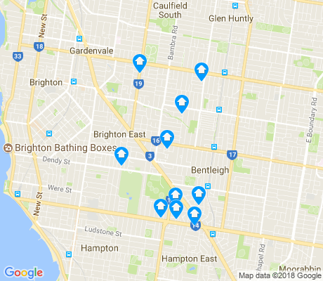 map of Brighton East apartments for rent