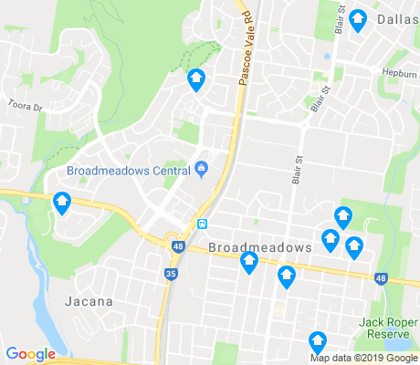 map of Broadmeadows apartments for rent