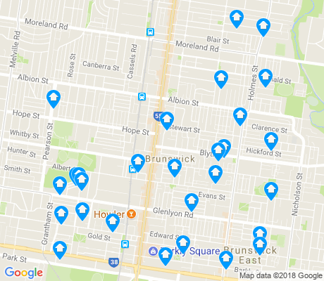 map of Brunswick apartments for rent