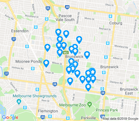 map of Brunswick West apartments for rent