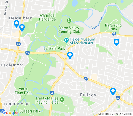 map of Bulleen apartments for rent