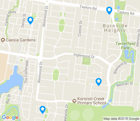 map of Burnside Heights apartments for rent