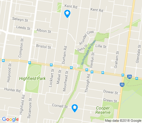 map of Camberwell apartments for rent