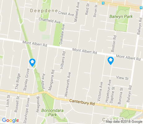 map of Canterbury apartments for rent