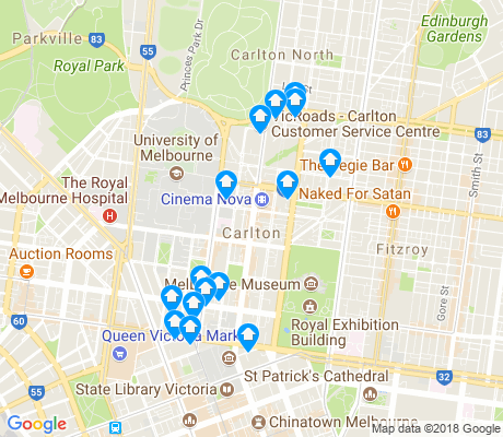 map of Carlton apartments for rent