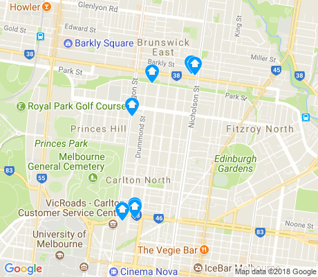 map of Carlton North apartments for rent