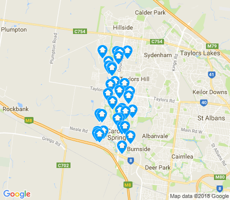 map of Caroline Springs apartments for rent