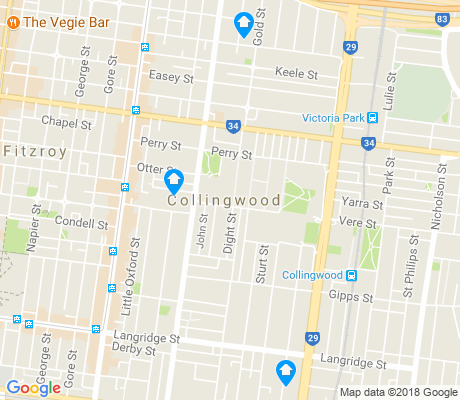 map of Collingwood apartments for rent