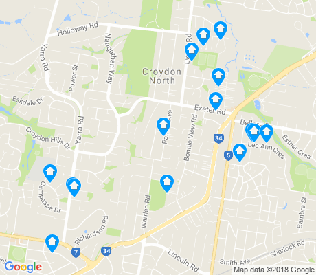 map of Croydon North apartments for rent
