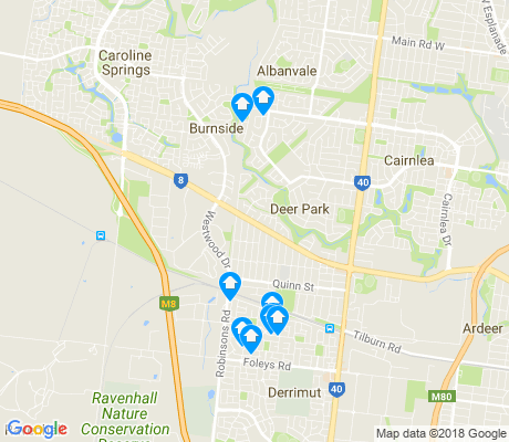 map of Deer Park apartments for rent