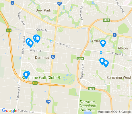 map of Derrimut apartments for rent