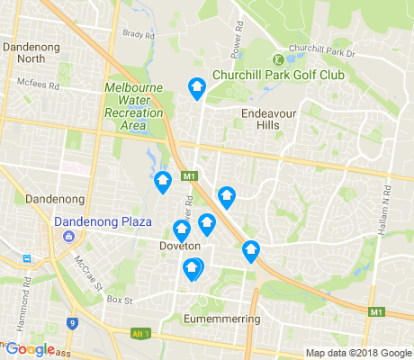 map of Doveton apartments for rent
