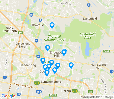 map of Endeavour Hills apartments for rent