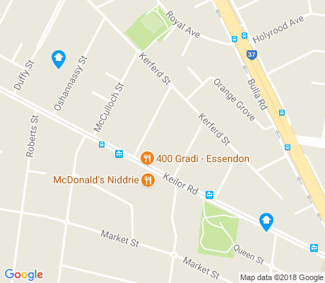 map of Essendon North apartments for rent
