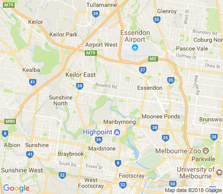 map of Essendon West apartments for rent