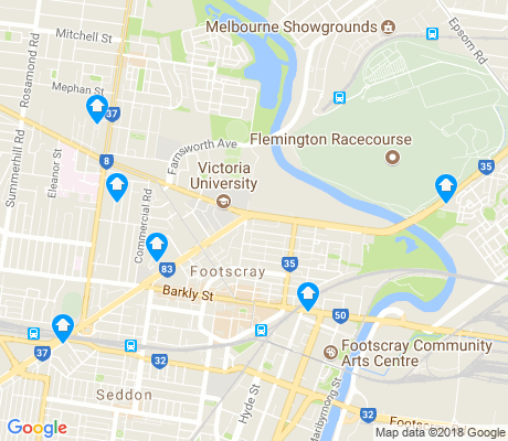 map of Footscray apartments for rent